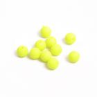 Бусины пластм.  8 мм «Шар матовый» (уп. 10 г) лимонный