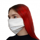 Маска защитная тканевая трехслойная белая 1 шт.