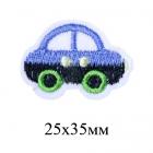 Термоаппликация MG-R0538 «Машинка» голубой/чёрный