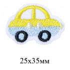 Термоаппликация MG-R0538 «Машинка» жёлтый/голубой