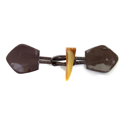 Застежка FA 151 кожа коричневый 16 см в интернет-магазине Швейпрофи.рф