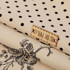 Ткань 50*50 см н-р 1872414 «Кофейная роза 505921 с табличкой Ручная работа»