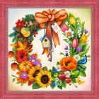 Алмазная мозаика АЖ-1617 «Круглый год» 40*40 см