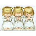 Алмазная мозаика Гранни AG054 «Ангелочки» 27*38 см