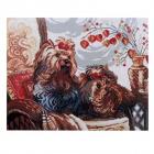 Алмазная мозаика Кристалл на дер.осн. GZ004 «Йорки» 50*40 см