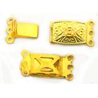 Застежка для бус «прямоуг»(на 3 цеп.)золот.уп.10шт