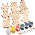 Набор  Astra&Craft для раскрашивания деревянных заготовок «Кактусы» 558785