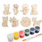 Набор  Astra&Craft для раскрашивания деревянных заготовок «Лисички» 558786