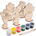 Набор  Astra&Craft для раскрашивания деревянных заготовок «Цветы» 558787
