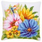 Набор для вышивания VERVACO 0001844985-PN Подушка «Разноцветные весенние цветы» 40*40 см