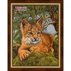 Алмазная мозаика АЖ-1525 «Маленькая рысь» 30*40 см