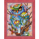 Алмазная мозаика АЖ-1610  «Красочный филин» 30*40 см