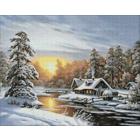 Алмазная мозаика Гранни AG0330  «Морозное утро» 38*48 см