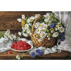 Алмазная мозаика Гранни AG0576 «Сладкая малина» 48*70 см