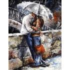 Алмазная мозаика Гранни AG0833 «Романтическая прогулка под дождем» 38*48 см