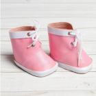 Обувь для игрушек (Ботиночки) 3495203 7,6 см  «Завязки»  пара нежно-розовый