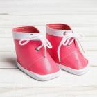 Обувь для игрушек (Ботиночки) 3495204 7,6 см  «Завязки»  пара розовый