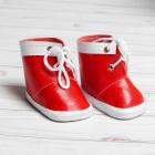 Обувь для игрушек (Ботиночки) 3495206 7,6 см  «Завязки»  пара красный