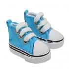 Обувь для игрушек (Кеды) 25238  5,0 см  выс.3,3 см шнурки бирюзовый (1 пара)