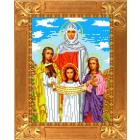 Рисунок для вышивания бисером Каролинка КБИ-4041 «Вера Надежда Любовь» А4