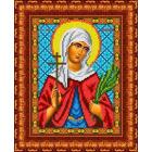 Рисунок для вышивания бисером Каролинка КБИ-4082 «Св Мучиница Валентина» 19*24 см