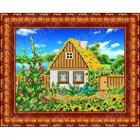 Рисунок для вышивания бисером Каролинка КБП-4004 «В деревне, Лето» 19*26 см