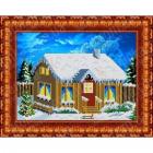 Рисунок для вышивания бисером Каролинка КБП-4005 «В деревне, Зимой» 19*26 см