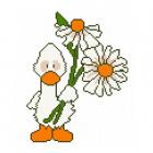 Набор для вышивания Нитекс 2206 «Утенок с ромашками» 22*22 см