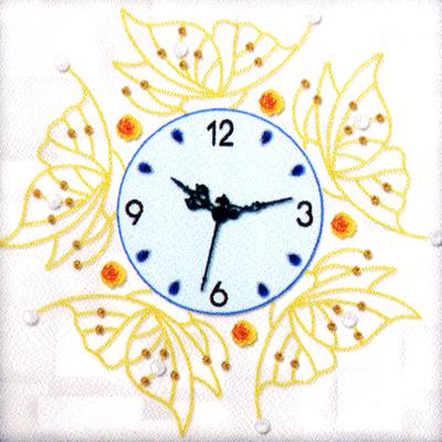Алмазная мозаика «Часы 50*50 NS-06 Бабочки» в интернет-магазине Швейпрофи.рф