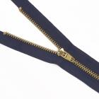 Молния Т4 джинс. п/авт.М-4002. 16 см MaxZipper золото/синий 330