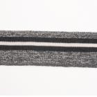 Подвяз трикотажный п/эTBY73028 серый с люрексом с т. серыми и белой  полосами 3,5*80см