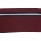 Подвяз трикотажный п/эTBY73036 бордовый с люрексом с т.синими и серебряной полосами 14*100см