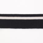 Подвяз трикотажный п/эTBY73070 т.т. синий с белой полосой 3,5*80см