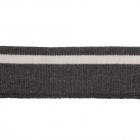 Подвяз трикотажный п/эTBY73072 т. серый с белой полосой 3,5*80см