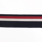 Подвяз трикотажный п/эTBY73074 т. синий с белой и бордовой полосами 3,5*80см