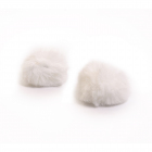 Помпон искусств (кролик) 6 см  (уп 2 шт) белоснежный 7723349