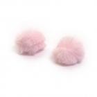 Помпон искусств (кролик) 6 см  (уп 2 шт) св.розовый 7723349