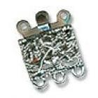 Застежка для бус Zlatka DC-026 «квадрат»на 3 цеп. серебро