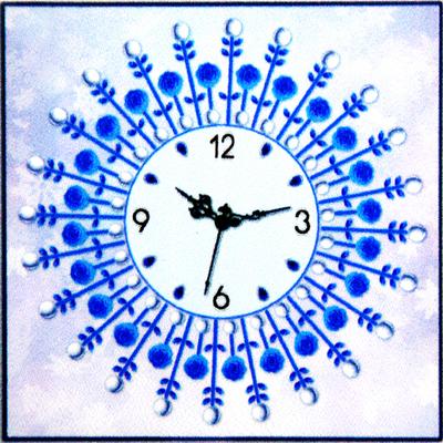 Алмазная мозаика «Часы 50*50 см NS-07 Роза» в интернет-магазине Швейпрофи.рф