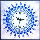 Алмазная мозаика «Часы 50*50 NS-07 Роза»
