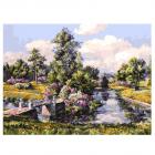Набор для раскрашивания Белоснежка AS278 «Весна в Павловском парке» 30*40 см