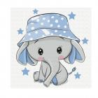 Набор для раскрашивания Molly KH0463  «Слоненок в панамке» 20*20 см