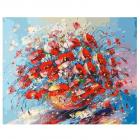 Набор для раскрашивания Белоснежка AB153 «Цветочная палитра лета» 40*50 см