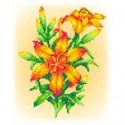 Набор для вышивания М.П.Студия КH-373  «Лилии» 21*30 см