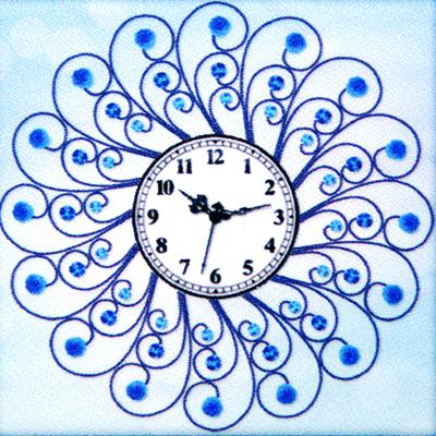 Алмазная мозаика «Часы 60*60 см NS-08 Мороз» в интернет-магазине Швейпрофи.рф