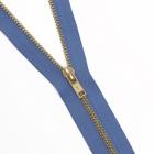 Молния Т4 джинс. авт. GMD 941 18 см латунь/213 т.голубой