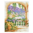 Алмазная мозаика Кристалл на дер.осн. GZ057 «Итальянская терасса» 50*40 см