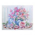 Алмазная мозаика Кристалл на дер.осн. GZ060 «Нежные розы» 50*40 см