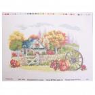 Рисунок на канве HP РК-214  «Осенний домик» 45*35 см