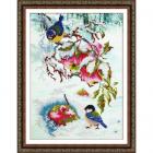 Набор для вышивания бисером Паутинка Б-1477 «Яблочки для синички» 28*38 см